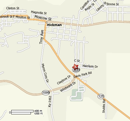 City of Hickman, KY Location Map